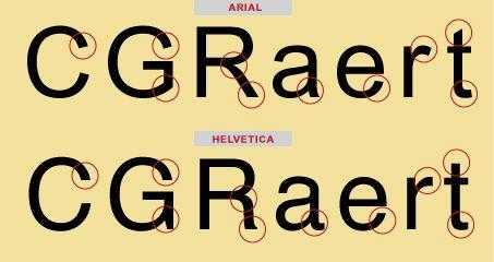 Arial vs Helvetica, tipografías palo seco neogrotescas