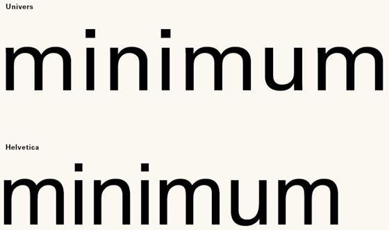helvetica vs univers, tipografías palo seco neogrotescas