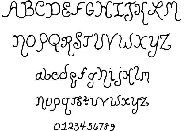 specimen tipografia fantasía