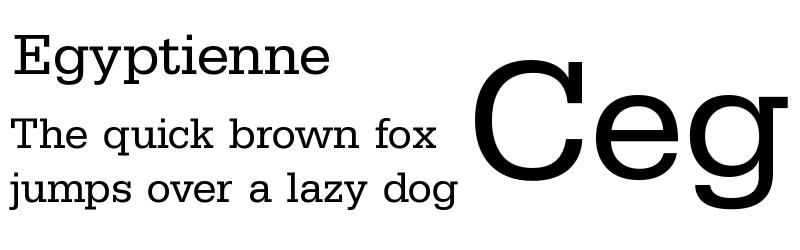 tipografia Egyptienne
