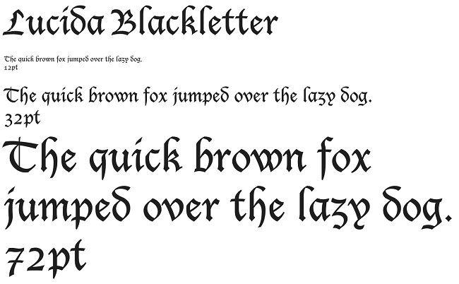 lucida blackletter