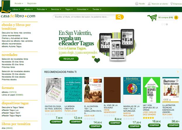 Web de La Casa Del Libro (laprestampa)