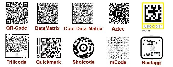 tipos de códigos bidimensionales