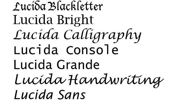 familia tipografica serial Lucida