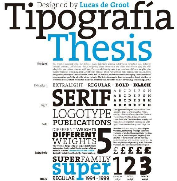 Caracteristica de tipografia Thesis lucas Groot-laprestampa