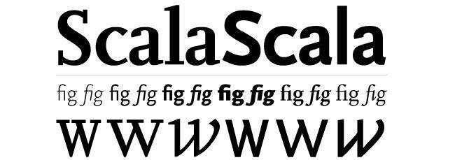 Tipografía serial Scala laprestampa