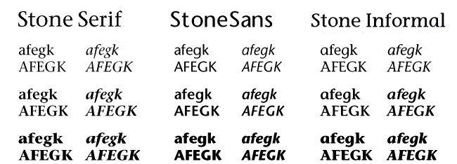 Tipografia serial Stone-sans-informal-serif laprestampa