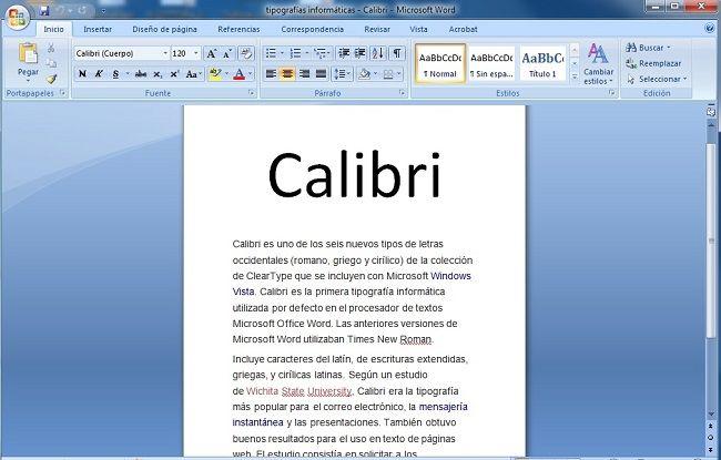 Calibri_tipografias informaticas_laprestampa