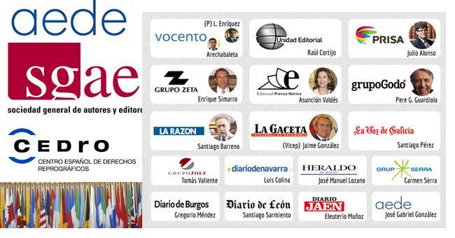 algunos culpables de la pirateria en prensa_aede, sgae, cedro, gobiernos