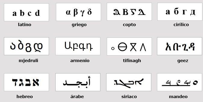 tipografias no latinas
