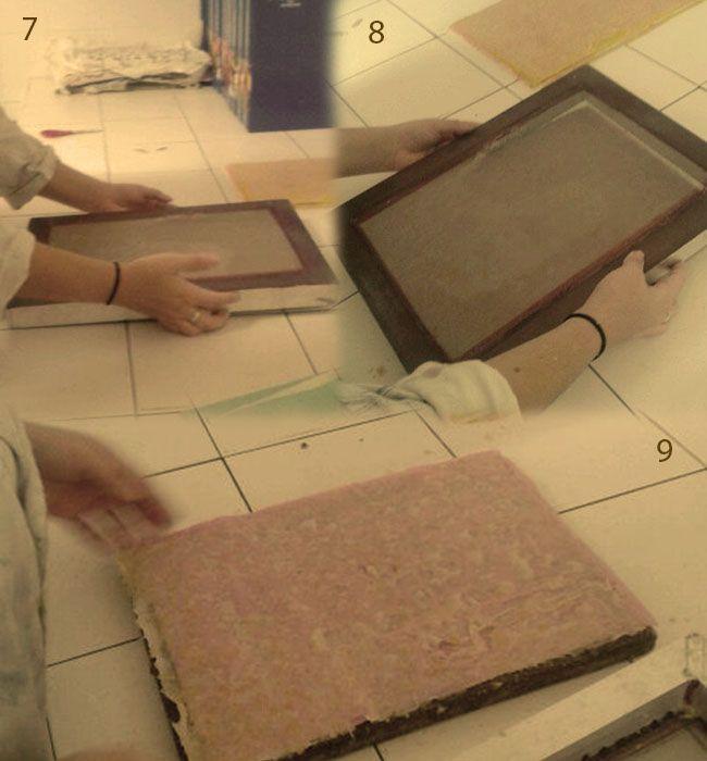 extracción del papel casero