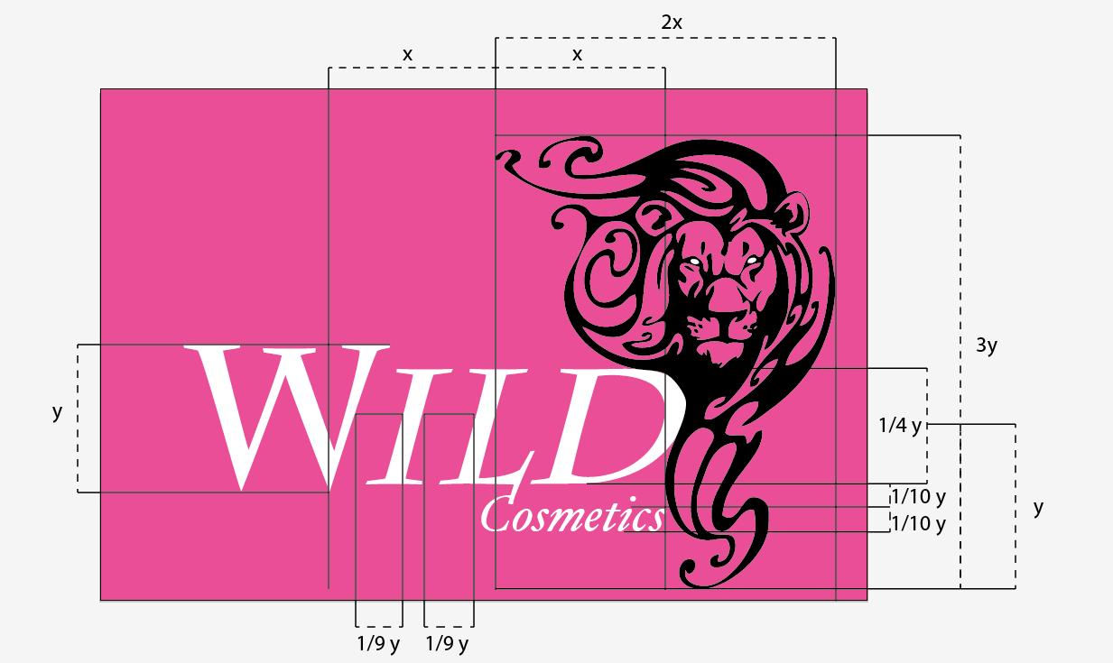 desarrollo logotipo_division estructural_medidas de wild del logotipo
