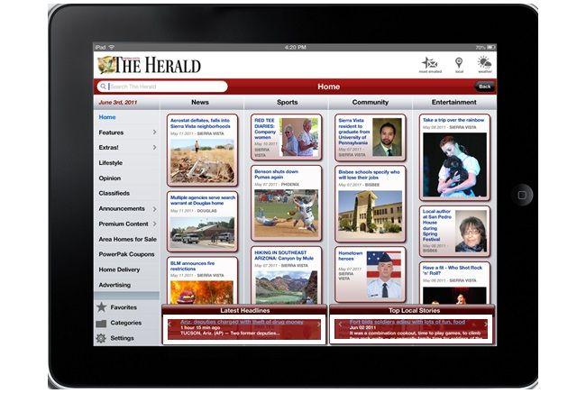 ejemplo de publicidad text link en tablet