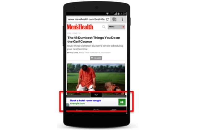 ejemplo de text-link en publicidad mobile