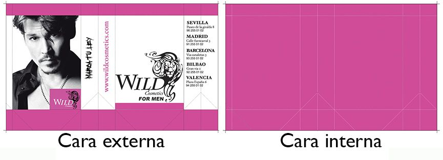 ejemplo diseño de una bolsa cosmetica_wild cosmetics for men_diseño estructural y grafico