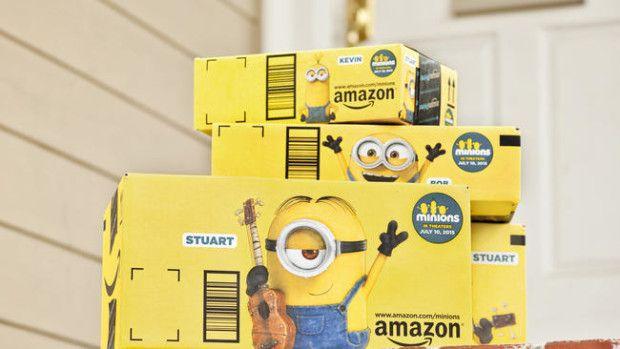 ejemplo de uso del packaging como elemento diferenciador en ecommerce_amazon y minions