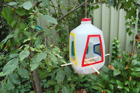 reutilizar plasticos_comedero de aves