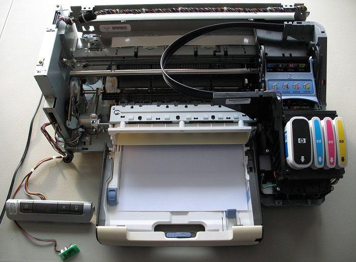 Ejemplo de impresora ink-jet - Modelo de HP