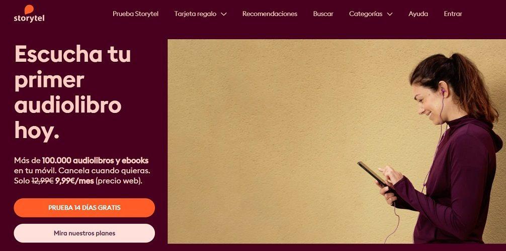 storytel, audiolibros