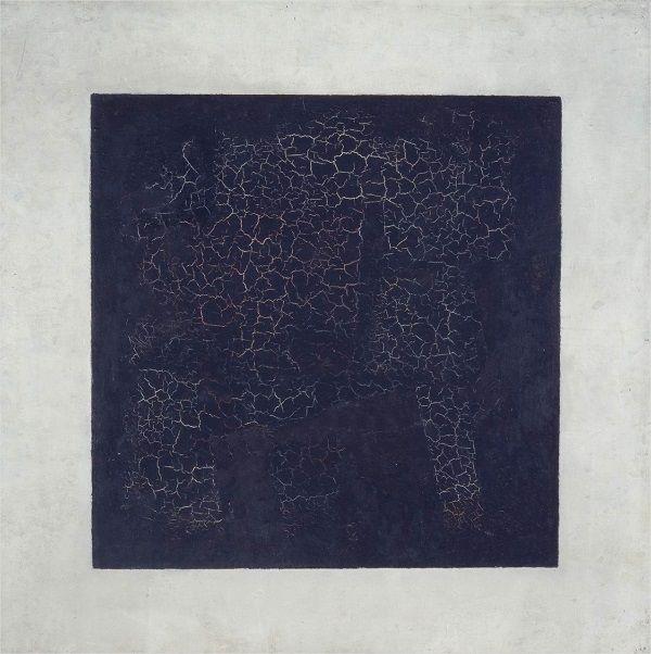 cuadro negro sobre fondo blanco, malevich, suprematismo, corrientes del diseño