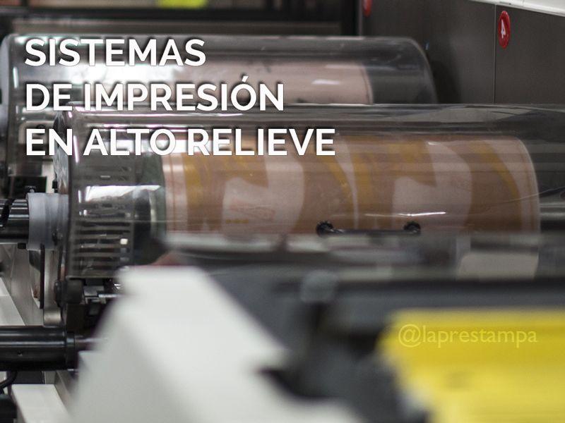 flexografía, impresión en alto relieve