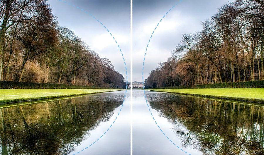 Principio del diseño: simetría - densidad visual y anisotropia.